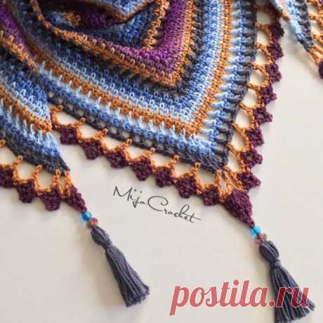 "Шaль ""Тaйгa"" от Mijo Crochet"