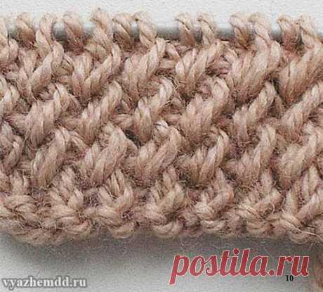 Вяжем спицами красивую резинку для шапочки | Вязание Шапок Спицами и Крючком