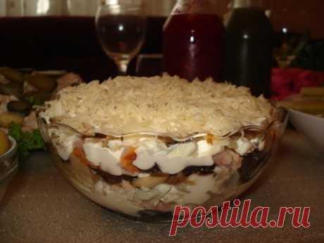 Лучшие кулинарные рецепты: Салат с курицей и черносливом