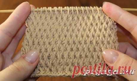Текстурный узор спицами со снятыми петлями