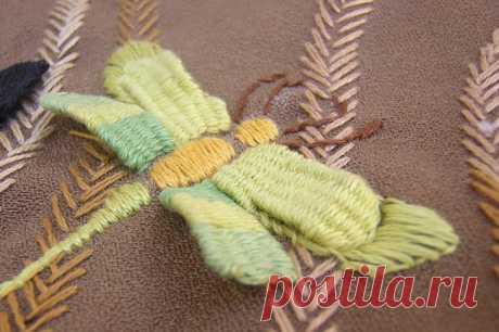 Необычная вышивка переплетением нитей — Рукоделие