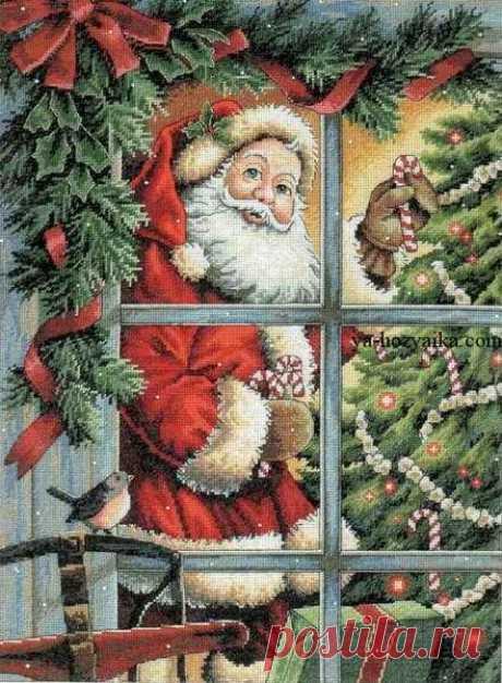 Вышивка крестом санта. Схемы вышивки крестом новый год рождество Вышивка крестом санта. Схемы вышивки крестом новый год рождество