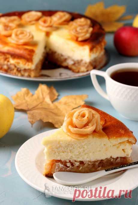 Воздушный сырник с яблоками — рецепт с фото пошагово