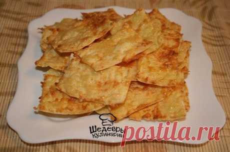 Сырно-чесночные чипсы из лаваша.
