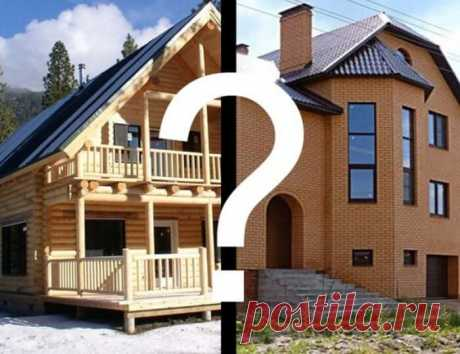 Возведение дома. Что выбрать — кирпич или дерево? | Тысяча и одна идея