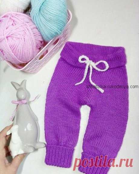 Штанишки для малыша спицами.Теплые простые штаныспицамидля малышей | Шкатулка рукоделия. Сайт для рукодельниц.
