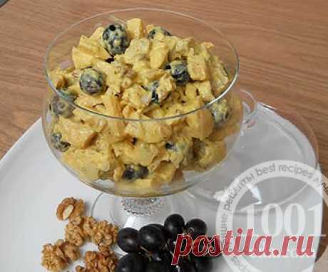 Рецепт салата Нирвана с виноградом