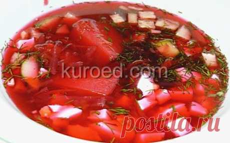 RECIPES   Cold borsch (beetroot soup)