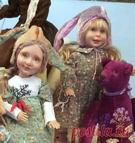 Погружаемся в мир авторских кукол и мишек Тедди вместе с выставкой «Мишка с куклой 2020» | Журнал Ярмарки Мастеров