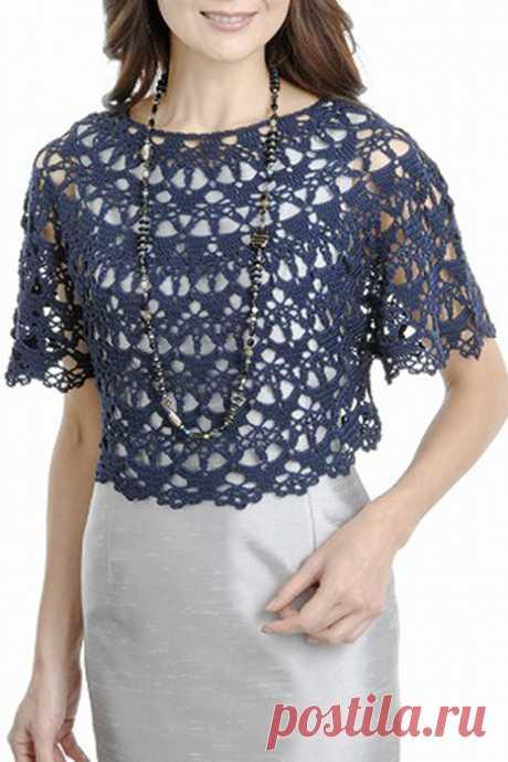 Синее чудо - накидка на платье