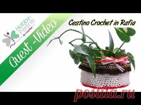 Cestino Crochet in Rafia | TUTORIAL - HobbyPerline.com
