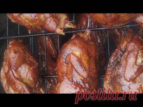 Домашнее Копчение Курицы(Горячий Способ)/Как Солить и Закоптить Курицу/Технология и Ошибки/SUB  (0+)