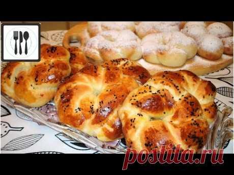 АЧМА - турецкие булочки. Сладкие булочки из пышного теста/Tatli acma tarifi