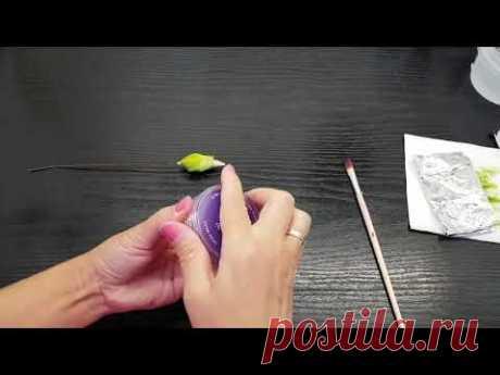 Окраска бутона Ириса за 40 секунд - видео эксперимент