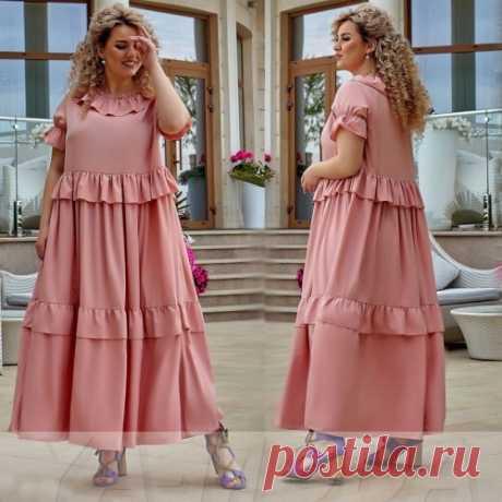 Платье воланы большой размер : шикарные платья на лето. Смотри фото, покупай тренды. Скидка.