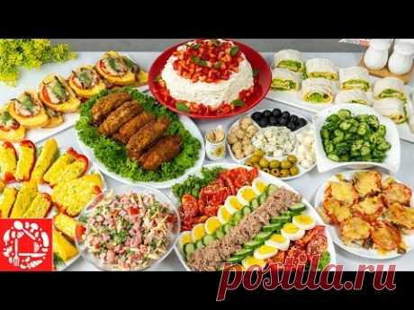 Меню на День Рождения за 2 часа! Готовлю 10 блюд! Праздничный стол: Салаты, Закуски, Торт и Горячее