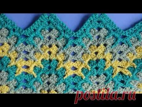 Zigzag crochet pattern Узор вязания зигзаг 31