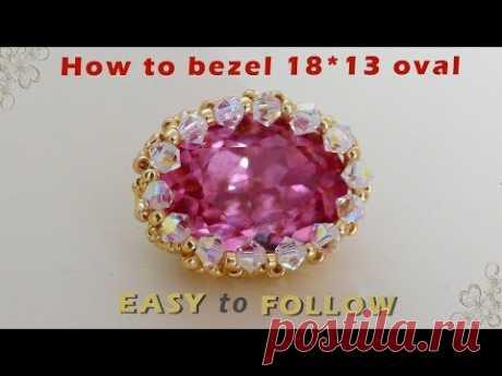 How to bezel 18*13 oval swarovski