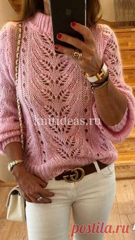 Красивый ажурный свитер спицами. Схема узора. | | Вязаные       Идеи.