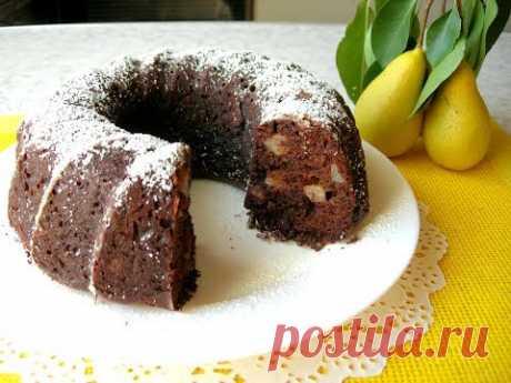 Шоколадный Кекс с Грушами Мой любимый рецепт Выпечки к чаю!