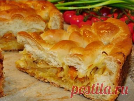 Кулинария>Пирог со свежей капустой