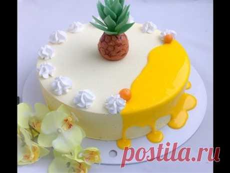 Кокосовый торт с ананасом (рецепт под видео) - YouTube