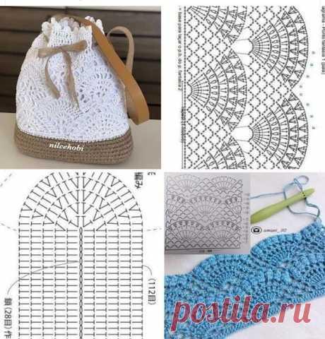 Идея для летнего вязаного рюкзака