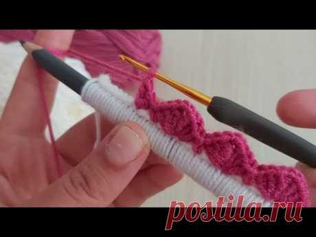 Amazing Easy Crochet Flower - Kalem ile Yapılan Bu Çiçekleri Cok Seveceksiniz