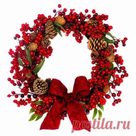 Из чего и как сделать рождественский венок своими руками / новый год / 7dach.ru