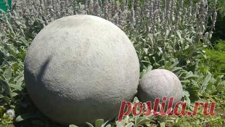 Декоративные шары из цемента и песка. Поделки для сада   Мастер Сергеич   Яндекс Дзен