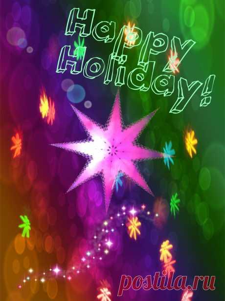 Счастливых праздников! *****  ------- *****   Happy Holiday Star  Free Stock Photo HD - Public Domain Pictures
