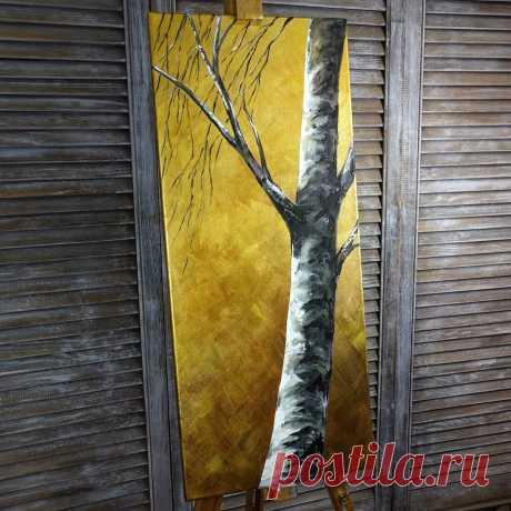 Создаем золотую картину без потали. Интерьерная картина акриловыми красками | Творческая студия TAIR | Яндекс Дзен