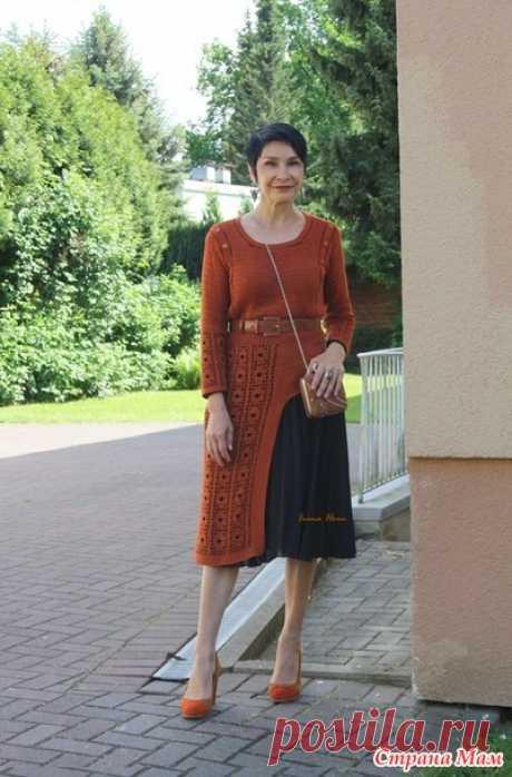 Платье с асимметричным подолом. Крючок. Irina Horn - Все в ажуре... (вязание крючком) - Страна Мам
