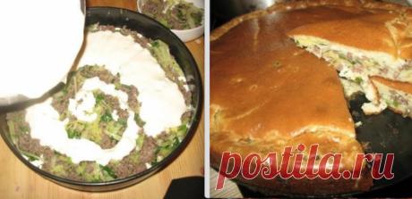 """Супер нежный пирог с капустой и мясом """"Королевский перекус"""""""
