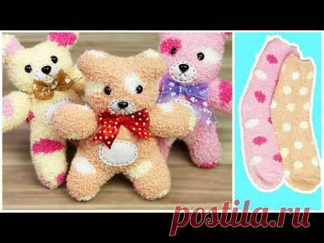Сделай сам Тедди нести от носок  Как к Сделать а Носок Кукла  носок кукла ремесла