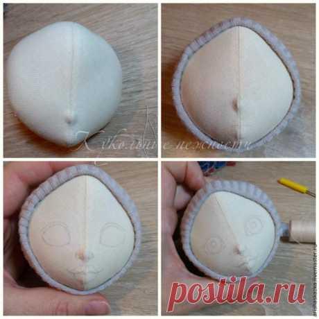 Как сделать кукольную головку из хлопка