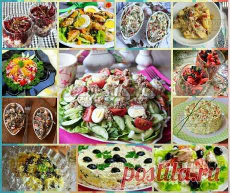 20 салатов из рыбы и морепродуктов