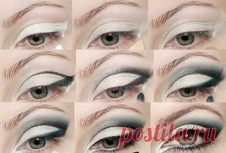 Photo lesson of a make-up of eyes