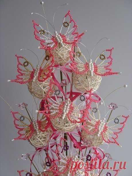 Композиции из бабочек со схемой — Сделай сам, идеи для творчества - DIY Ideas
