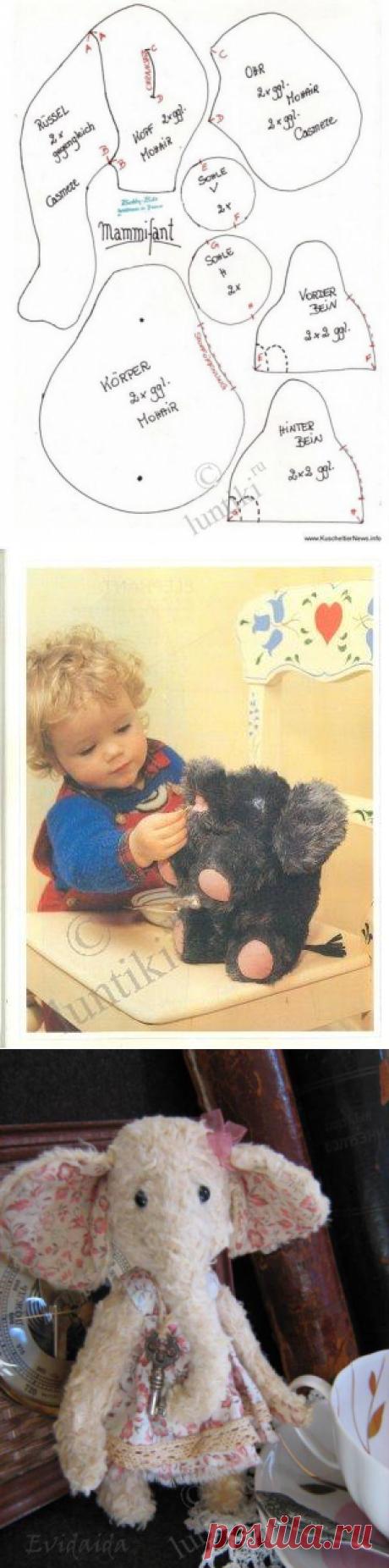 Выкройки мягких слоников тедди фото 915