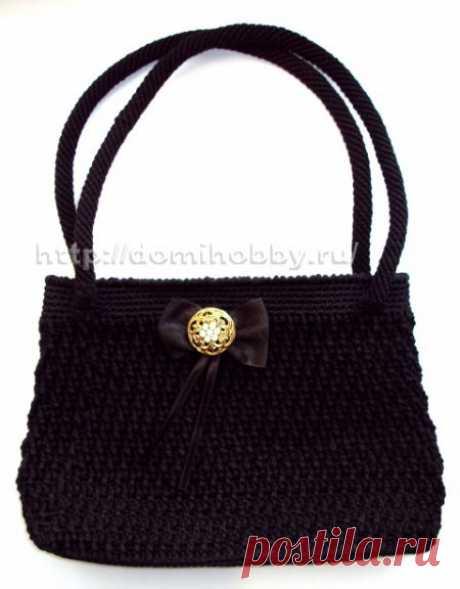 Вязание классической сумки