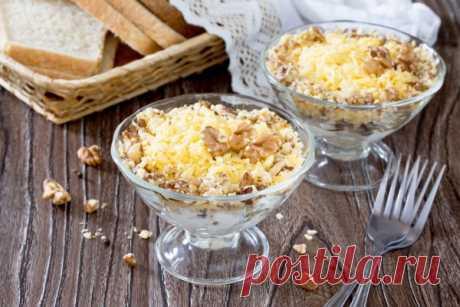 Зимний салат из курицы, орехов и сыра - Рецепты. Кулинарные рецепты блюд с фото - рецепты салатов, первые и вторые блюда, рецепты выпечки, десерты и закуски - IVONA - bigmir)net - IVONA bigmir)net
