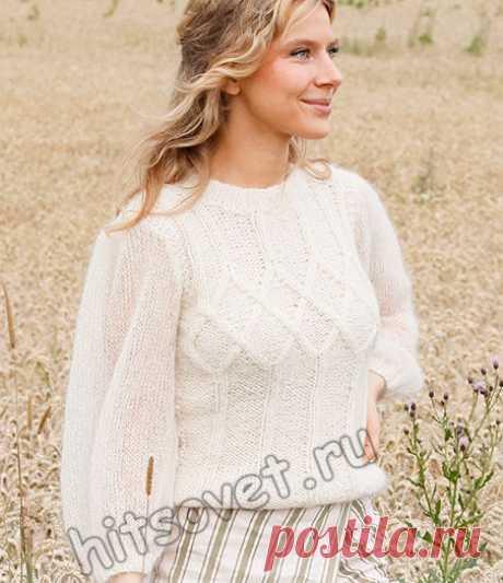 Вязаный белый джемпер White Meadow - Хитсовет