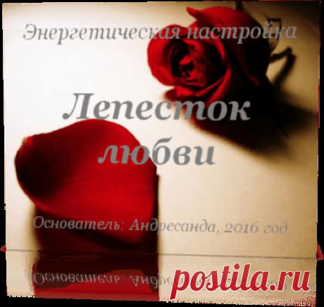 Энергетическая настройка Лепесток любви — Андресанда