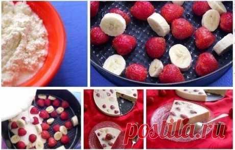 Творожно-фруктовый десерт (вкусно и легко)