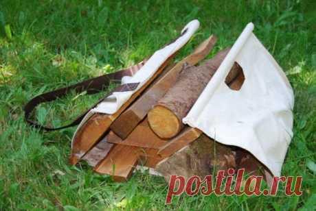 Переноски для дров своими руками: варианты конструкций с выкройками, схемами и описанием.