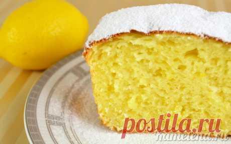 Потрясающе вкусный творожный кекс с лимоном
