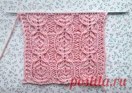 Оригинальный узор спицами Круги для вязания шапок, свитеров, носков