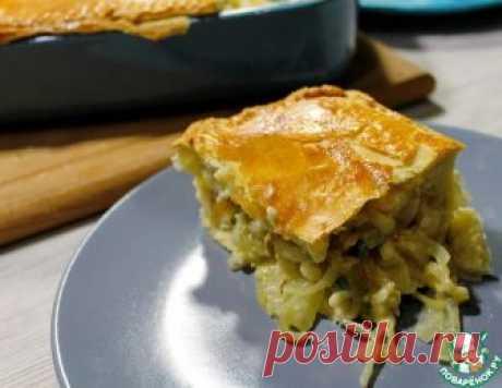 Луковый пирог с плавленым сыром – кулинарный рецепт
