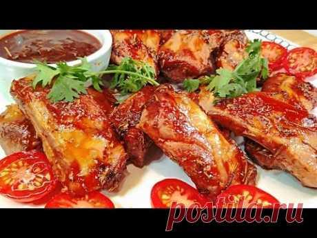 Рецепт отрывают с руками! Свиные Ребрышки Барбекю в духовке. Круче чем в ресторане! - YouTube